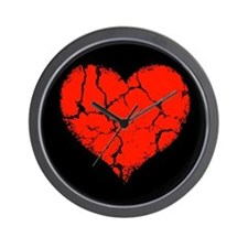 Broken Heart Wall Clock