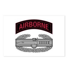 CAB w Airborne Tab - Red Postcards (Package of 8)