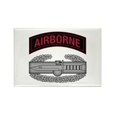CAB w Airborne Tab - Red Rectangle Magnet