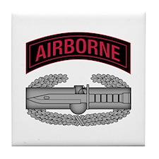 CAB w Airborne Tab - Red Tile Coaster