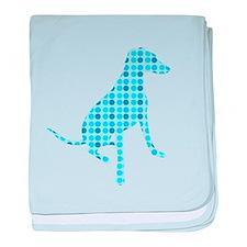 Polka Dot Hound baby blanket
