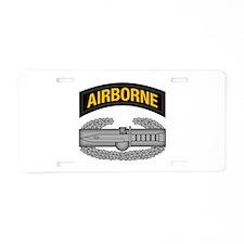 CAB w Airborne Tab - Gold Aluminum License Plate