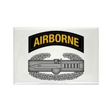 CAB w Airborne Tab - Gold Rectangle Magnet