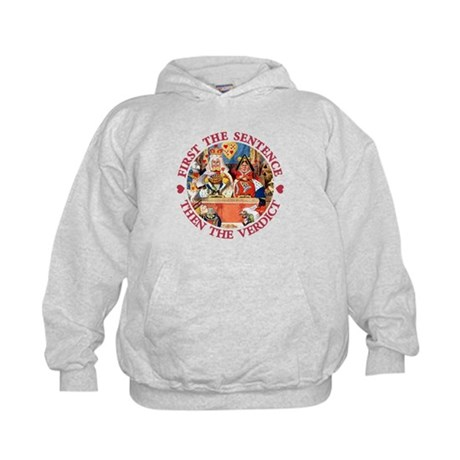 First The Sentence, Then the Verdict Kids Hoodie