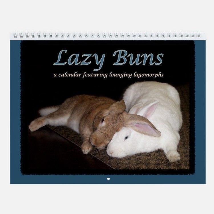 """Lazy Buns"" Wall Calendar"