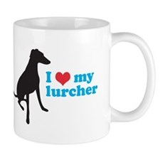 I Love My Lurcher Small Mug