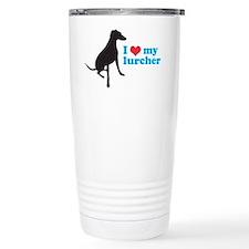 I Love My Lurcher Ceramic Travel Mug
