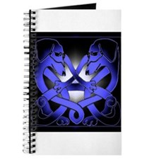 Irish Celtic Double Dachshund Dogs 2 Journal