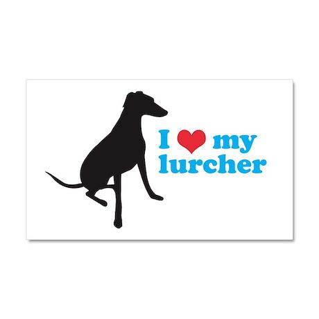 I Love My Lurcher Car Magnet 20 x 12