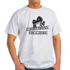 I Shoot People-Black with cam T-Shirt