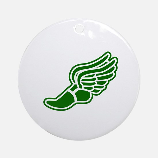 Green Winged Track Foot Ornament (Round)