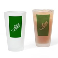 Green Winged Track Foot Drinking Glass