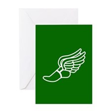 Green Winged Track Foot Greeting Card