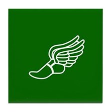 Green Winged Track Foot Tile Coaster
