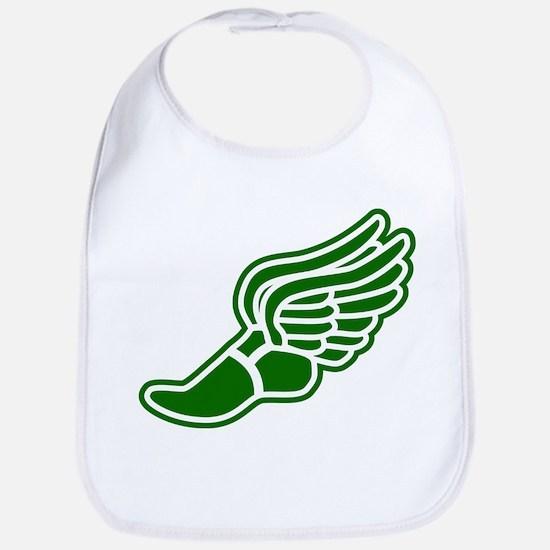 Green Winged Track Foot Bib