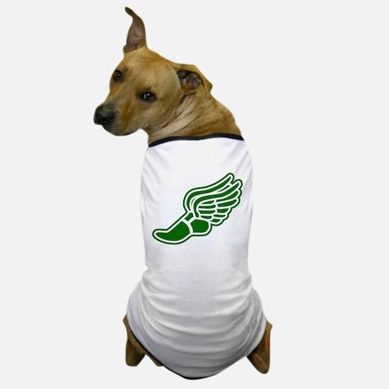 Green Winged Track Foot Dog T-Shirt