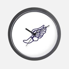 Purple Winged Track Foot Wall Clock
