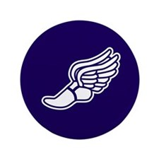 """Purple Winged Track Foot 3.5"""" Button"""