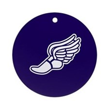 Purple Winged Track Foot Ornament (Round)