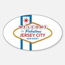 Welcome to Jersey CIty Sticker (Oval)