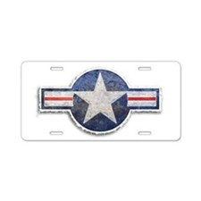 USAF US Air Force Roundel Aluminum License Plate