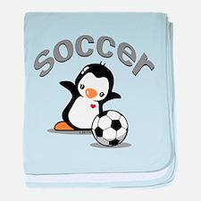 Soccer baby blanket
