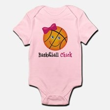 Pink Basketball Chick Onesie
