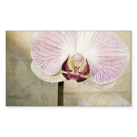 Pink Orchid Petal Sticker (Rectangle)