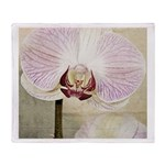 Pink Orchid Petal Throw Blanket