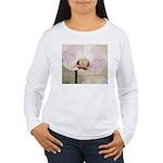 Pink Orchid Petal Women's Long Sleeve T-Shirt