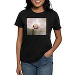 Pink Orchid Petal Women's Dark T-Shirt