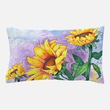 Sunflowers Watercolor Pillow Case