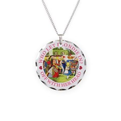 Who Let Blondie In? Necklace Circle Charm