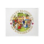 Who Let Blondie In? Throw Blanket