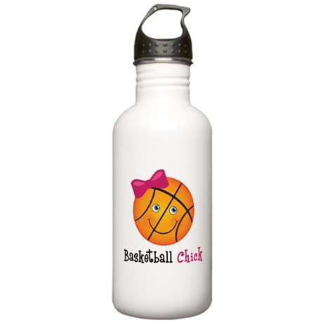 Pink Basketball Chick Stainless Water Bottle 1.0L
