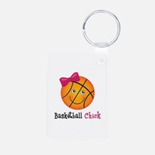 Pink Basketball Chick Keychains
