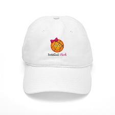 Pink Basketball Chick Baseball Cap