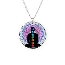 Chakras Necklace Circle Charm