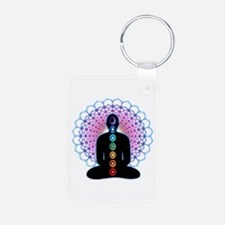 Chakras Aluminum Photo Keychain