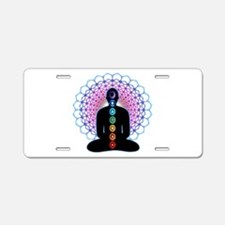 Chakras Aluminum License Plate