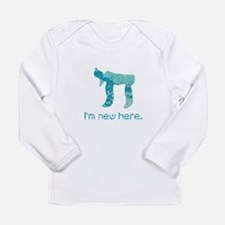 Chai, I'm new here! Long Sleeve Infant T-Shirt