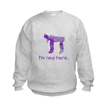 Chai, I'm new here! Kids Sweatshirt