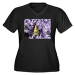Swallowtail Phlox Women's Plus Size V-Neck Dark T-