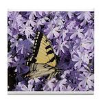 Swallowtail Phlox Tile Coaster