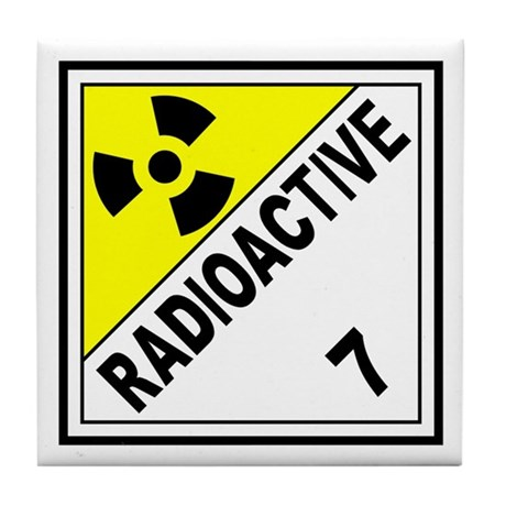 Radioactive dot 7 tile coaster by radioactive 7 - Radioactive coasters ...