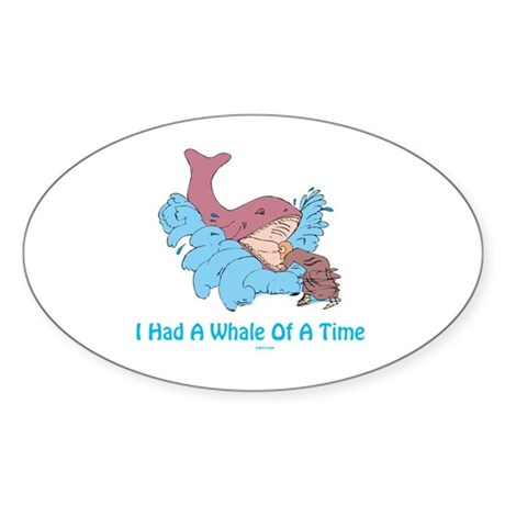 Whale of a Time Jonah Sticker (Oval)