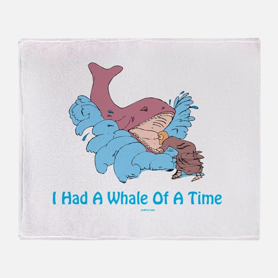 Whale of a Time Jonah Throw Blanket