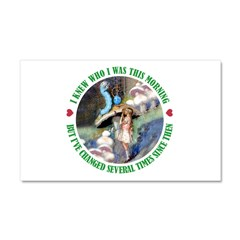 I Knew Who I Was Car Magnet 20 x 12