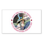 I Knew Who I Was Sticker (Rectangle 50 pk)
