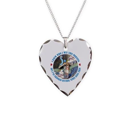 I Knew Who I Was Necklace Heart Charm